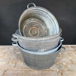 Medium Vintage Galvanised Tin Bath | Round
