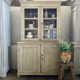 Antique French Glass front Cabinet | Morag