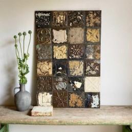 Vintage tin tile Patchwork Artwork | M