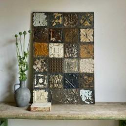 Vintage tin tile Patchwork Artwork | K