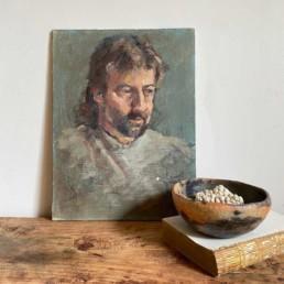 Antique Oil Portrait painting | Giles