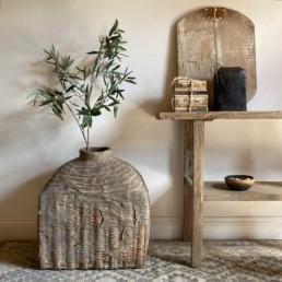 Antique Large Hand Woven Basket | Ottelie