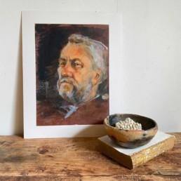 Antique Oil Portrait painting | Benjimin