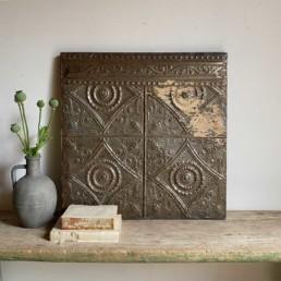 Vintage American tin Ceiling tile | M