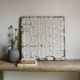 Vintage American tin Ceiling tile | J