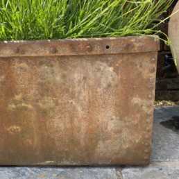 Antique Riveted Galvanished trough