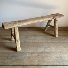 Antique Rustic Wooden Bench | Gabriella 113cm