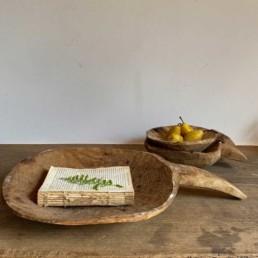 Hand carved primitive wooden scoop Large