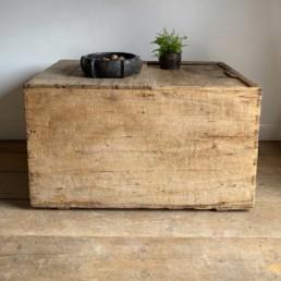 Antique Rustic Timber Trunk | Mia