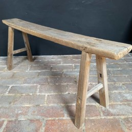 Antique Rustic Wooden Bench | Odell 123cm