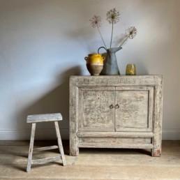 Antique Cupboard Original Distressed Paintwork | Ottolene