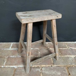 Aged Timber Rustic Stool