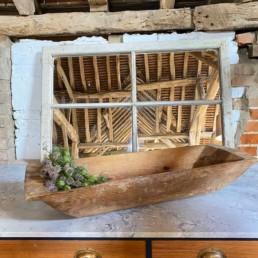 Antique Rustic Wooden Dough Bowl   Alice