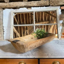 Antique Rustic Wooden Dough Bowl | Amelia