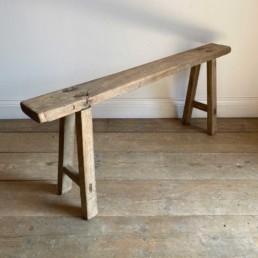 Antique Rustic Wooden Bench | Georgia 119cm