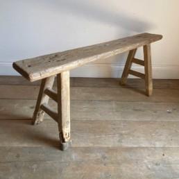Antique Rustic Wooden Bench | Isabella 115cm