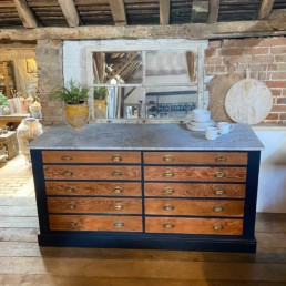 Marble Top Island - Sideboard | Antique Plan Chest