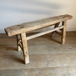 Antique Rustic Wooden Bench | Lelia 101cm