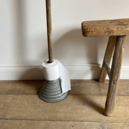 Vintage washing Dolly stick | Loo Roll Holder