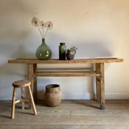 Antique Elm Console Table | Oswald