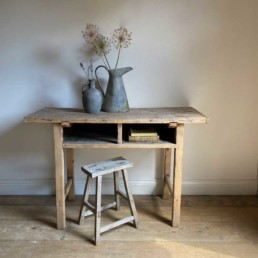 Antique small console table with Shelf | Pandora