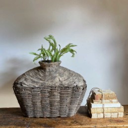 Antique Medium Hand Woven Basket | Rhoda
