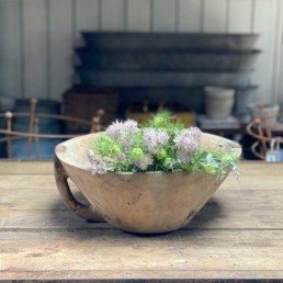 Antique Rustic Wooden Dough Bowl   Riley
