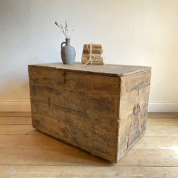 Antique Weathered timber merchant Trunk | Palmer
