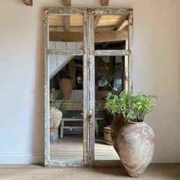 Antique French Door Mirror | Tatiana