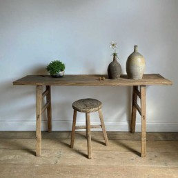 Antique Elm Console Table Rosemary