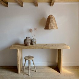 Reclaimed Rustic Elm Console Table St Ives