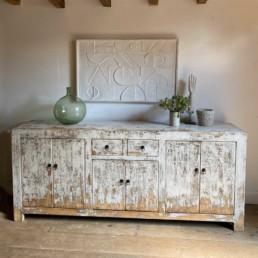 Antique Elm Cabinet Sideboard | Rudyard
