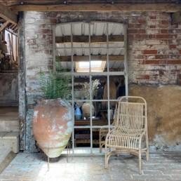 Vintage Large Industrial Window Mirror | Ada