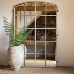 Vintage Large Metal Window Mirror | Agatha