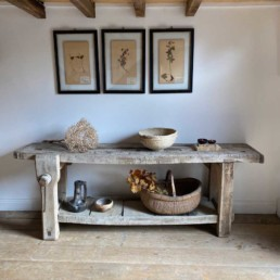 Rustic Antique French Workbench | Laurent