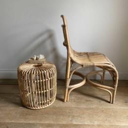 Hand Made Rattan Chair   Natural