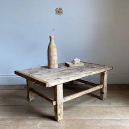 Antique Wooden Small Coffee Table | Yolanda