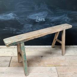 Antique Rustic Wooden Bench | Zara 101cm