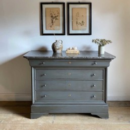 Antique Marble Top Commode | Abigail