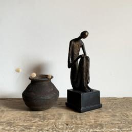 Bronze Style Statue Contemplation