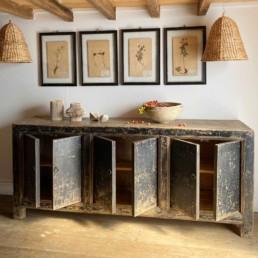 Antique Rustic Black Cabinet |Maximus