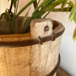 Rustic Antique Wooden Water Bucket