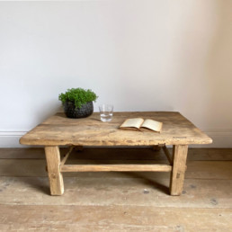 Antique Wooden Small Coffee Table |Zhandra
