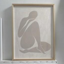 Female Nude Print | Angeline 30cm x 40cm