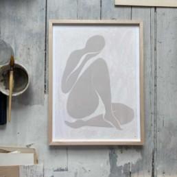Female Nude Print   Angeline 30cm x 40cm