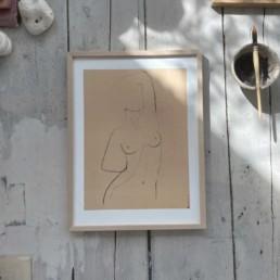 Female Nude Line Drawing Print | Esme 30cm x 40cm