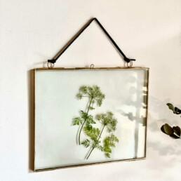 Brass and Glass Frame 25 x 20cm