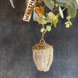 Beaded Acorn Tree Decoration | Walther and Co