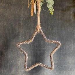Small Grey Beaded Star | Walther and Co