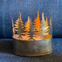 Fern Tea Light Holder | Brass Gold